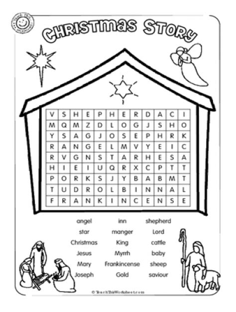 printable nativity word search teach this worksheets create and customise your own