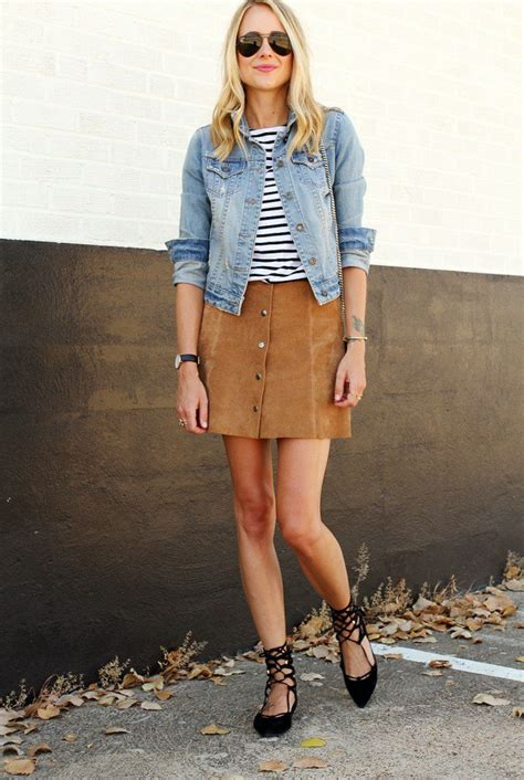 stylish ways to wear suede skirts ohh my my