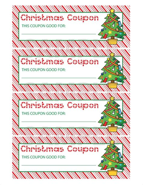 printable voucher template christmas christmas coupon templates invitation template