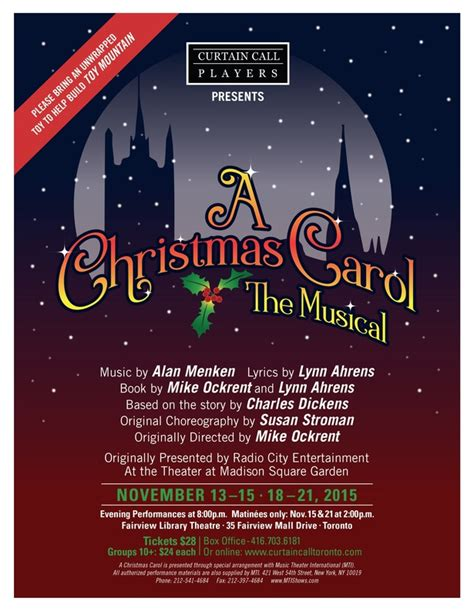 curtain call players a christmas carol presented by curtain call players