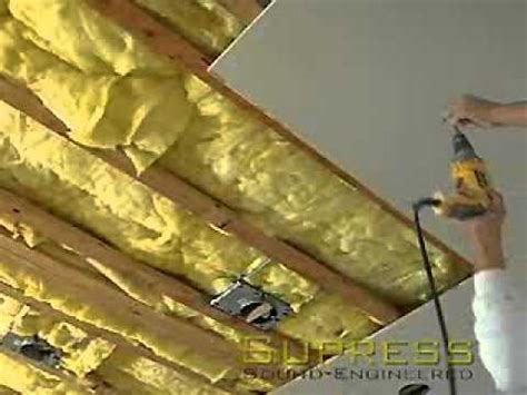 best sound insulation for basement ceiling soundproofing a ceiling using resilient channels how to