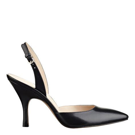 Back Heels nine west anatasia slingback in black black leather lyst