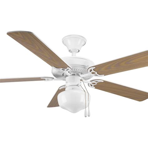 schoolhouse ceiling fan progress lighting white builder 52 quot 5 blade ceiling fan