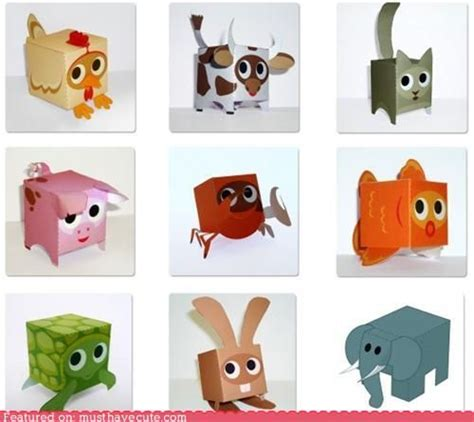 Paper Craft Animals - available for free at paper box world they also some