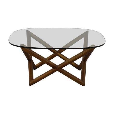 elm glass coffee table buy elm wood table used furniture on sale