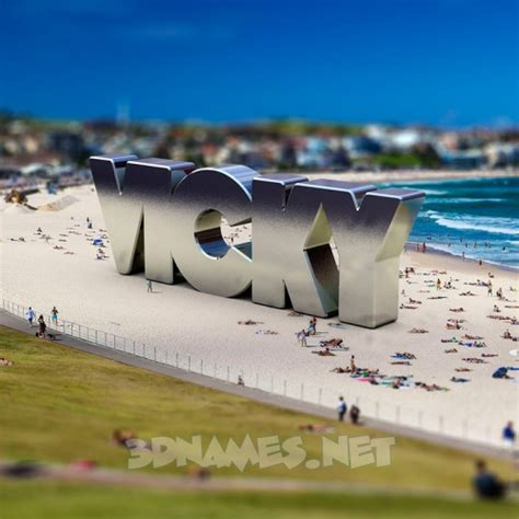 3d wallpaper vicky preview of bondi beach for name vicky