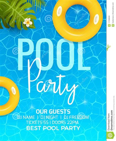 pool summer party invitation template invitation pool