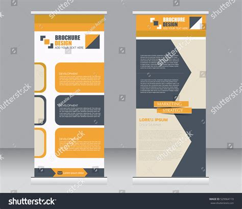 roll up stand design templates roll banner stand template abstract background stock