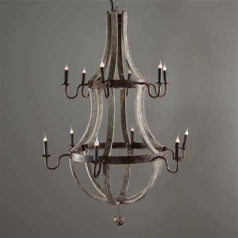 wine barrel chandelier 12 l 2000 lighting