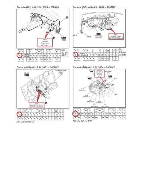 2003 kia amanti 2003 kia sedona wiring diagram ecm 2004 kia amanti wiring