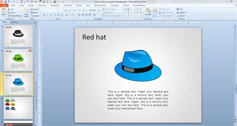 free six hats powerpoint template free powerpoint