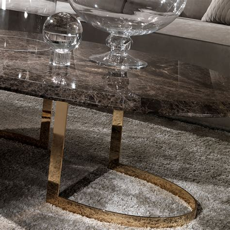 oval marble coffee modern 24 carat gold plated oval marble coffee table