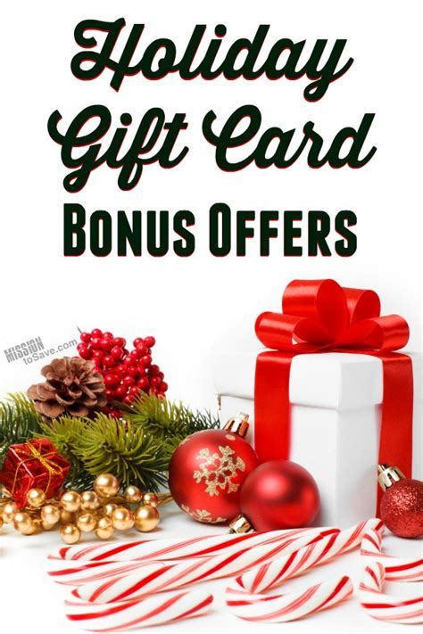 Holiday Gift Card Deals - tis the season for holiday bonus gift card offers mission to save
