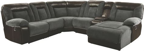black and brown sectional cybele motion grey and dark brown sectional from coaster