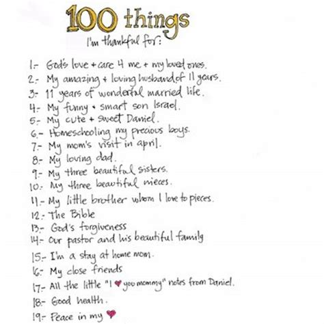 8 Things Im Thankful For by 100 Things I M Thankful For I Lists