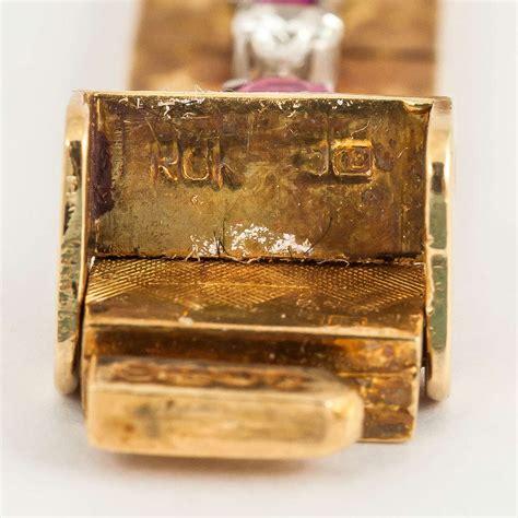 Ruby Burma 004 1965 burma ruby gold bracelet for sale at