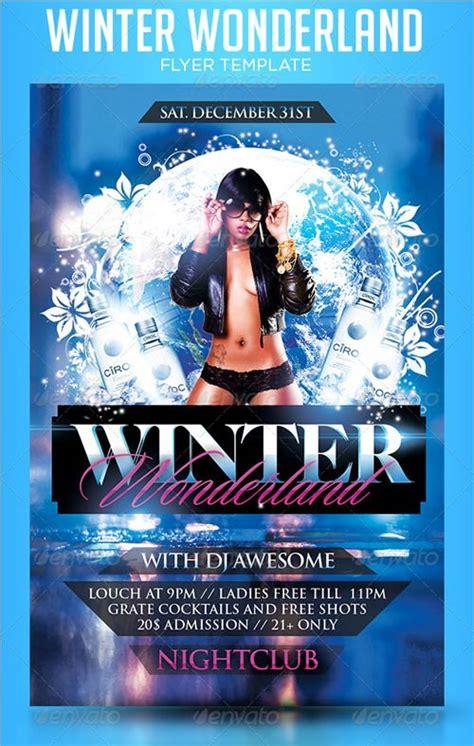 Graphicriver Winter Wonderland Flyer Template Winter Flyer Template