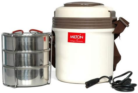 Electric Lunch Box 1 flipkart milton electric tiffin 3 containers lunch box