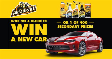 buy any qualifying armor all product win a brand new car - Advance Auto Sweepstakes