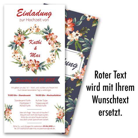 Hochzeitseinladung Blumen by Hochzeitseinladungen Mit Blumenmotiv Bestellen