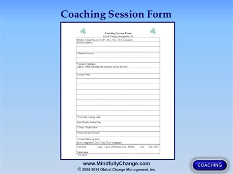 coaching session template the practice business of coaching