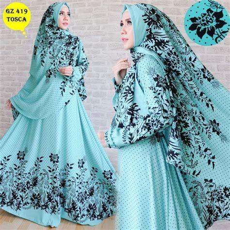 Baju Muslim Kaftan Tosca baju gamis wolfis terbaru gz419 toska model baju gamis