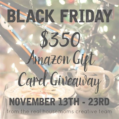 Amazon Black Friday Giveaway - black friday amazon gift card giveaway kleinworth co