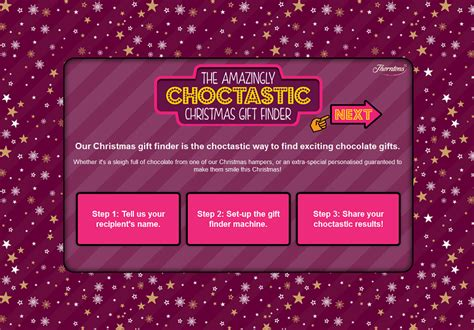 check out the amazingly choctastic christmas gift finder