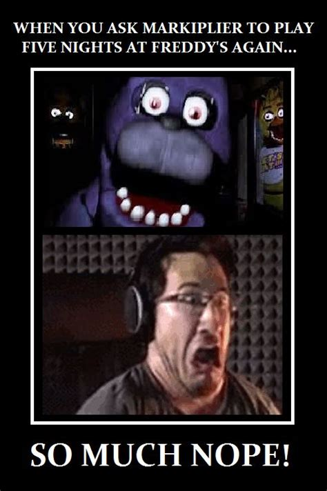 4 Picture Meme - i made this funny meme if markiplier will ever play fnaf