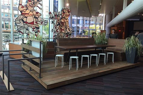 Community Table by Louisville S Parklet Debuts At Ideafestival Headed