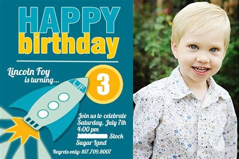 3 year birthday card template 3 years birthday invitations wording free invitation