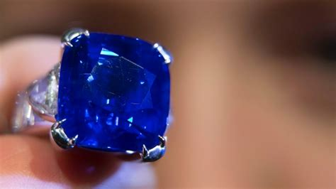 Blue Sapphire 4 35 Ct kashmir sapphire sells for 7 million at christie s