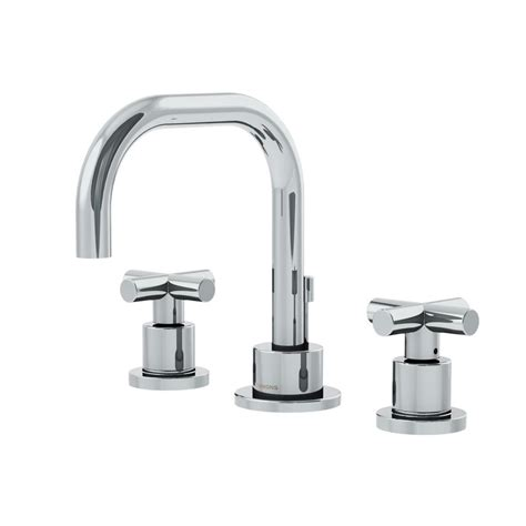bathroom faucet handles symmons dia 8 in widespread 2 handle bathroom faucet with cross handles in chrome slw 3512 h3 1