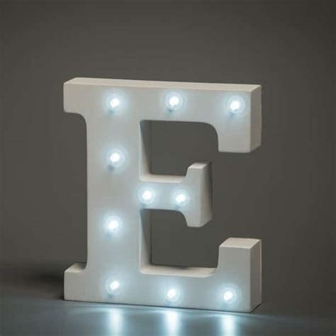 Letter Lights Alphabet Letter E Up In Lights