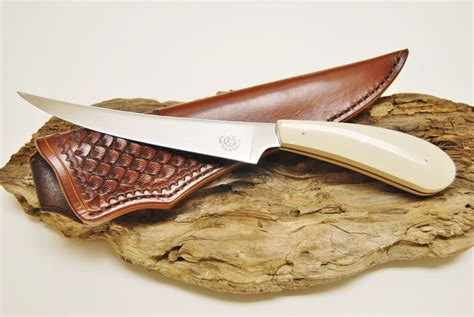 Handmade Fillet Knife - handmade custom fillet knife by tidal tools leather