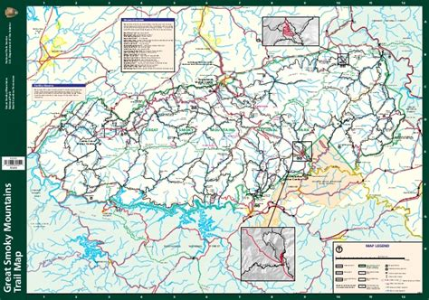 great smoky mountains national park map great smoky mountains national park trails map