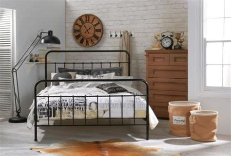 designer jessica double size black metal bed frame double beds