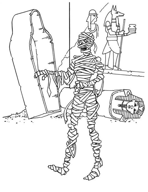 free printable mummy coloring pages for kids
