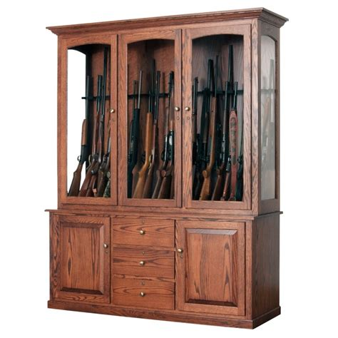 Custom Made Dining Room Furniture jesse james 20 gun cabinet amish made large gun cabinet