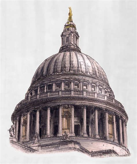 cathedral roofdrawing dome of paul s cathedral drawing by gerald blaikie