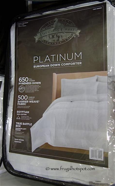 costco down comforter costco sale pacific coast feather pyrenees down comforter
