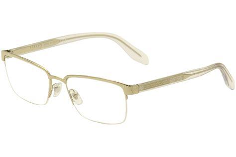 versace s eyeglasses ve1241 1241 1252 pale gold half