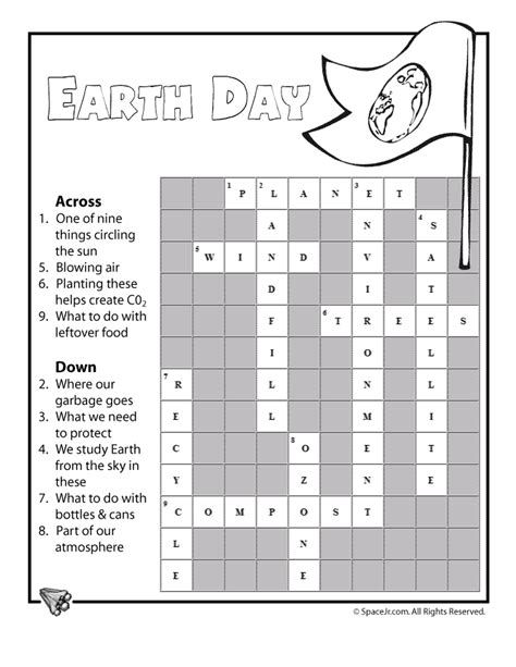 easy crossword puzzles with answer key earth day crossword ans woo jr kids activities
