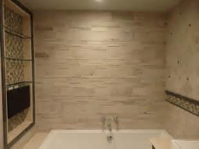 Master Bathroom Tile Designs by Quot Stone Look Quot Master Bathroom Design By Katelyn Dessner