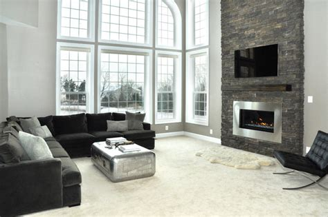 modern living rooms with fireplaces fireplace renovation contemporary living room dc metro by domain design