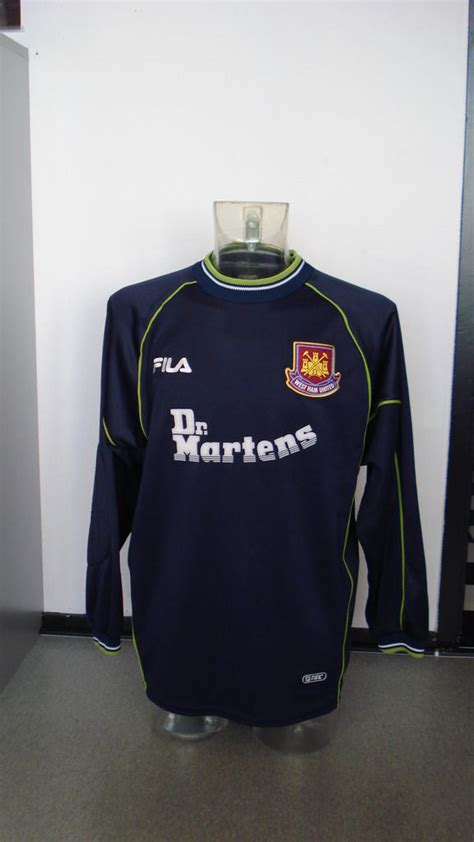 Dr Martens West Ham United Tees west ham united goalkeeper football shirt 1999 2001