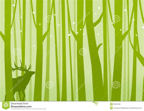 Fairy House Plans Deer In Forest Green Stock Photography Image 32951962
