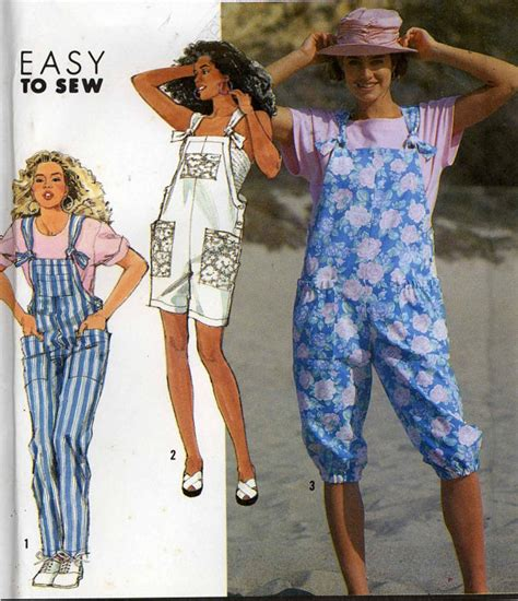 sewing pattern overalls 90s womens overalls sewing pattern simplicity 7176 casual