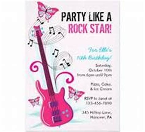 free printable rockstar birthday invitations 1000 images about cumple rock star on pinterest rock