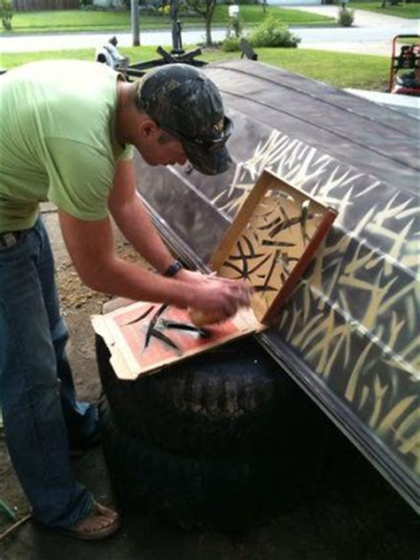 spray paint aluminum boat 25 best ideas about duck boat blind on boat